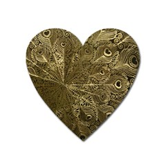 Peacock Metal Tray Heart Magnet by Simbadda