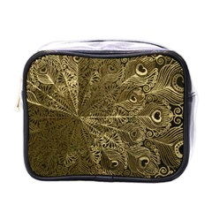 Peacock Metal Tray Mini Toiletries Bags by Simbadda