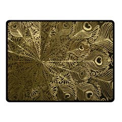 Peacock Metal Tray Fleece Blanket (small) by Simbadda