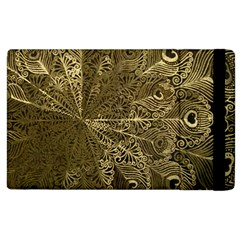 Peacock Metal Tray Apple Ipad 2 Flip Case by Simbadda