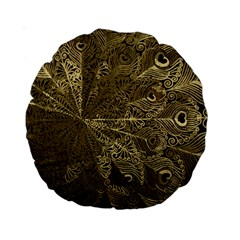 Peacock Metal Tray Standard 15  Premium Round Cushions