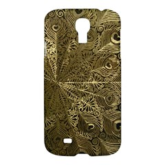 Peacock Metal Tray Samsung Galaxy S4 I9500/i9505 Hardshell Case by Simbadda