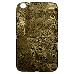 Peacock Metal Tray Samsung Galaxy Tab 3 (8 ) T3100 Hardshell Case  by Simbadda