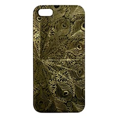 Peacock Metal Tray Iphone 5s/ Se Premium Hardshell Case by Simbadda