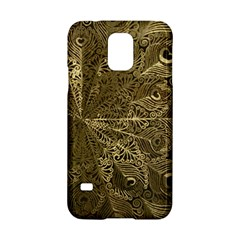 Peacock Metal Tray Samsung Galaxy S5 Hardshell Case  by Simbadda