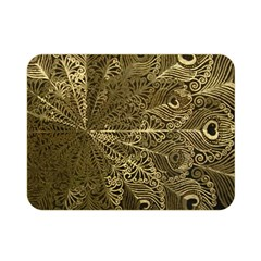 Peacock Metal Tray Double Sided Flano Blanket (mini)  by Simbadda