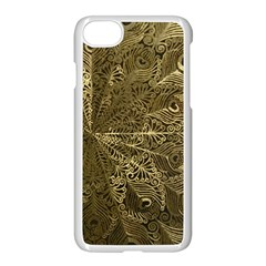 Peacock Metal Tray Apple Iphone 7 Seamless Case (white) by Simbadda
