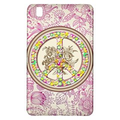 Peace Logo Floral Pattern Samsung Galaxy Tab Pro 8 4 Hardshell Case