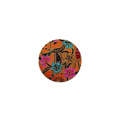 Colorful The Beautiful Of Art Indonesian Batik Pattern 1  Mini Buttons by Simbadda