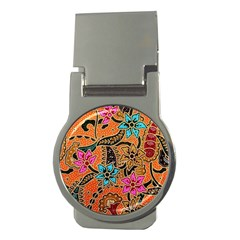Colorful The Beautiful Of Art Indonesian Batik Pattern Money Clips (round)  by Simbadda