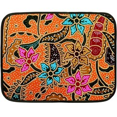 Colorful The Beautiful Of Art Indonesian Batik Pattern Double Sided Fleece Blanket (mini)  by Simbadda