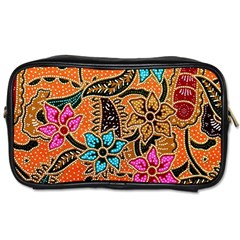 Colorful The Beautiful Of Art Indonesian Batik Pattern Toiletries Bags by Simbadda