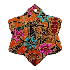 Colorful The Beautiful Of Art Indonesian Batik Pattern Ornament (snowflake) by Simbadda