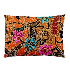 Colorful The Beautiful Of Art Indonesian Batik Pattern Pillow Case (two Sides) by Simbadda