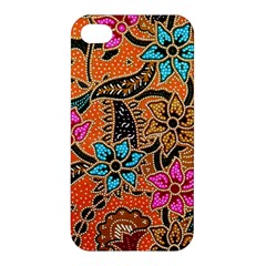 Colorful The Beautiful Of Art Indonesian Batik Pattern Apple Iphone 4/4s Hardshell Case by Simbadda