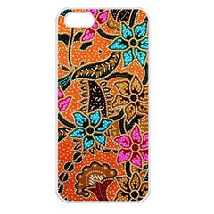 Colorful The Beautiful Of Art Indonesian Batik Pattern Apple Iphone 5 Seamless Case (white)