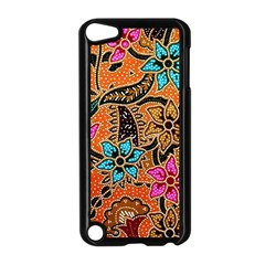Colorful The Beautiful Of Art Indonesian Batik Pattern Apple Ipod Touch 5 Case (black) by Simbadda