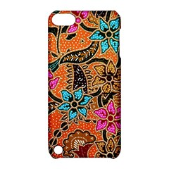 Colorful The Beautiful Of Art Indonesian Batik Pattern Apple Ipod Touch 5 Hardshell Case With Stand by Simbadda