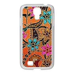 Colorful The Beautiful Of Art Indonesian Batik Pattern Samsung Galaxy S4 I9500/ I9505 Case (white) by Simbadda