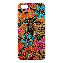 Colorful The Beautiful Of Art Indonesian Batik Pattern Iphone 5s/ Se Premium Hardshell Case by Simbadda