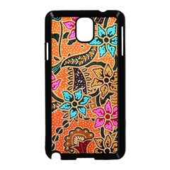 Colorful The Beautiful Of Art Indonesian Batik Pattern Samsung Galaxy Note 3 Neo Hardshell Case (black)