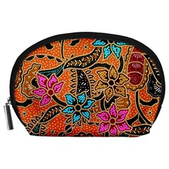 Colorful The Beautiful Of Art Indonesian Batik Pattern Accessory Pouches (large)  by Simbadda
