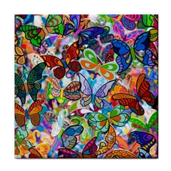 Color Butterfly Texture Tile Coasters by Simbadda