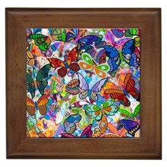Color Butterfly Texture Framed Tiles by Simbadda