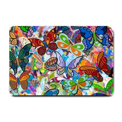 Color Butterfly Texture Small Doormat  by Simbadda
