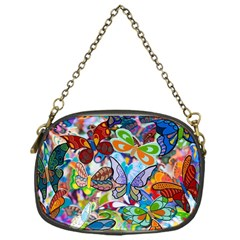Color Butterfly Texture Chain Purses (one Side)  by Simbadda