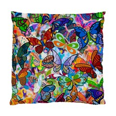 Color Butterfly Texture Standard Cushion Case (two Sides) by Simbadda