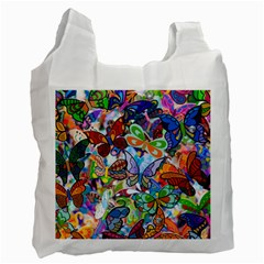 Color Butterfly Texture Recycle Bag (two Side)