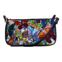 Color Butterfly Texture Shoulder Clutch Bags by Simbadda