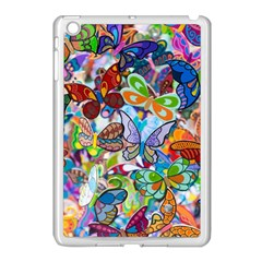 Color Butterfly Texture Apple Ipad Mini Case (white) by Simbadda