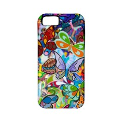 Color Butterfly Texture Apple Iphone 5 Classic Hardshell Case (pc+silicone)
