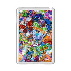 Color Butterfly Texture Ipad Mini 2 Enamel Coated Cases by Simbadda