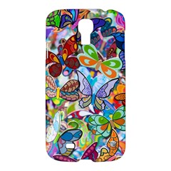 Color Butterfly Texture Samsung Galaxy S4 I9500/i9505 Hardshell Case by Simbadda