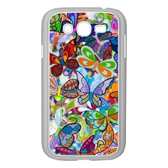 Color Butterfly Texture Samsung Galaxy Grand Duos I9082 Case (white) by Simbadda