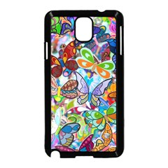 Color Butterfly Texture Samsung Galaxy Note 3 Neo Hardshell Case (black) by Simbadda