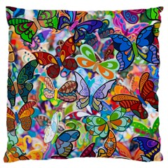 Color Butterfly Texture Standard Flano Cushion Case (one Side) by Simbadda