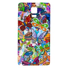 Color Butterfly Texture Galaxy Note 4 Back Case by Simbadda
