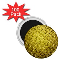 Patterns Gold Textures 1 75  Magnets (100 Pack)