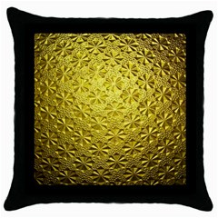 Patterns Gold Textures Throw Pillow Case (black) by Simbadda