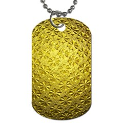 Patterns Gold Textures Dog Tag (two Sides) by Simbadda