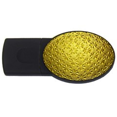 Patterns Gold Textures Usb Flash Drive Oval (2 Gb) by Simbadda