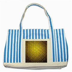 Patterns Gold Textures Striped Blue Tote Bag by Simbadda