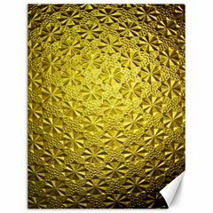 Patterns Gold Textures Canvas 12  X 16   by Simbadda