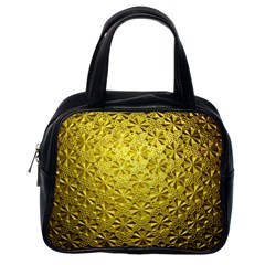 Patterns Gold Textures Classic Handbags (one Side) by Simbadda