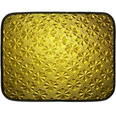 Patterns Gold Textures Fleece Blanket (mini) by Simbadda