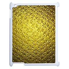 Patterns Gold Textures Apple Ipad 2 Case (white) by Simbadda
